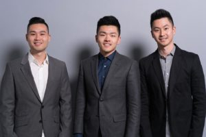 Andrew Tsai, Jonathan Hong, Mike Zhang, co-founders of The Drip Club