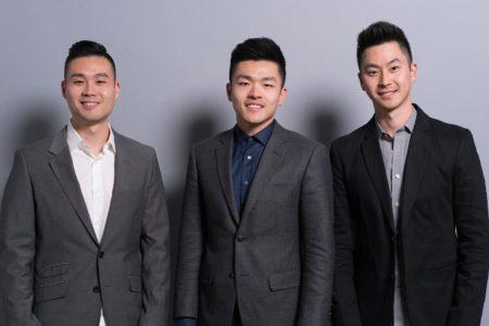Andrew Tsai, Jonathan Hong, Mike Zhang, co-founders of The Drip Club
