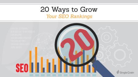GE 20 Ways to Grow Your SEO Rankings