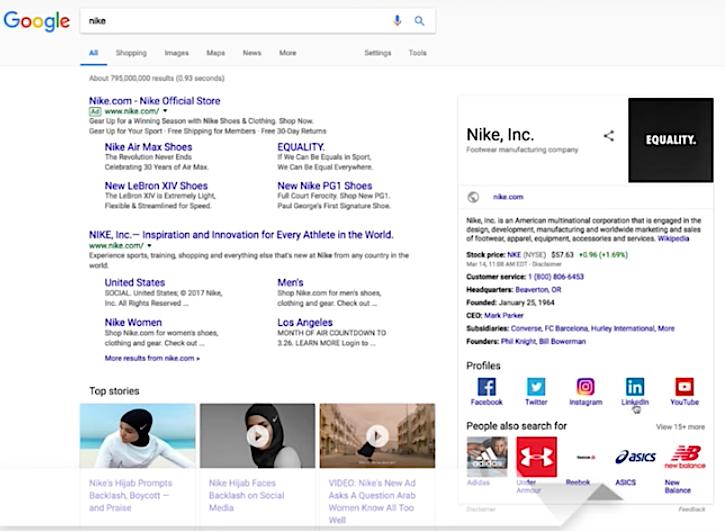 Google Nike