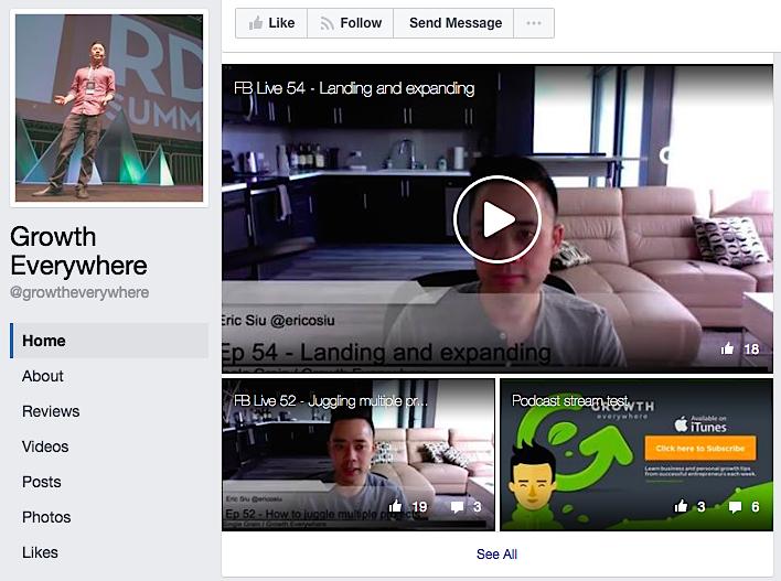 Growth Everywhere Facebook Live