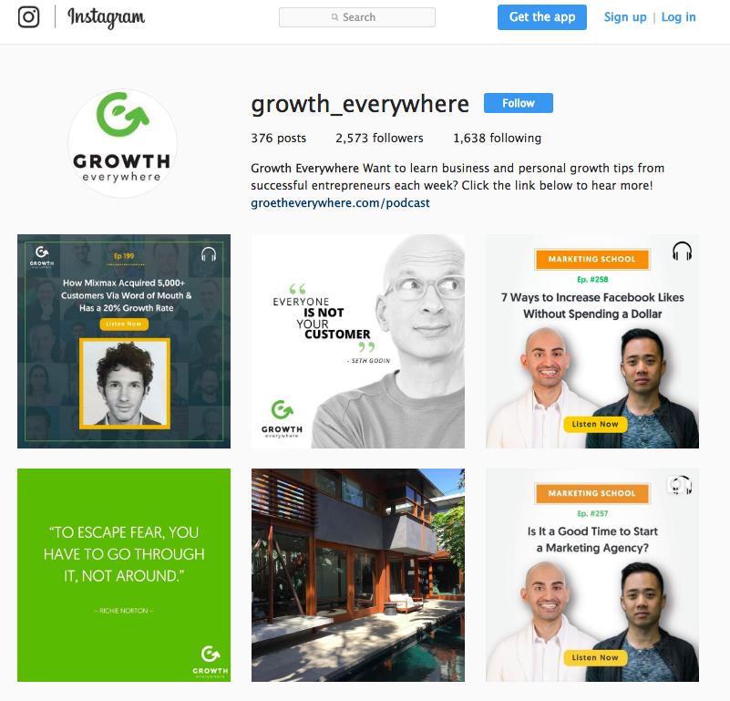Growth Everywhere Instagram