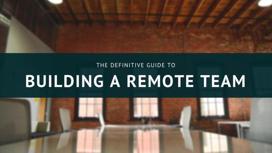 building a remote team